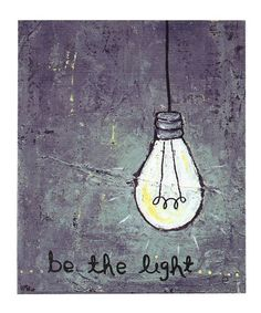 Look what I found on #zulily! 'Be the Light' Canvas #zulilyfinds