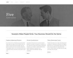 Templates — Squarespace 6  Five  2nd choice, actual business