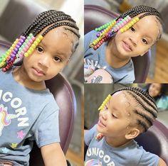 Black Kids Braids Hairstyles, Toddler Braided Hairstyles, Toddler Braids, Cute Little Girl Hairstyles, Little Girl Braids, Cute Hairstyles For Kids, Baby Girl Hairstyles, Kids Hairstyle, School Hairstyles
