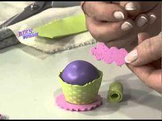 Sandra Rigueiro - Bienvendias TV en HD - Modela en goma eva un mini cupcake para decorar lápices - YouTube