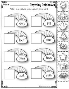 math worksheet : 1000 ideas about rhyming words on pinterest  bob books word  : Rhyming Worksheets Kindergarten