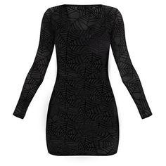 Black Spider Web Bodycon Dress (1.655 RUB) ❤ liked on Polyvore featuring dresses, body con dresses, bodycon dresses, spider web dress and body conscious dress