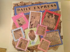 Up cycled vintage newspaper picture