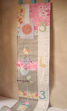 growth chart quilt patterns | Growth chart birds and flower