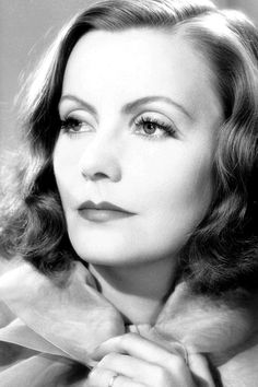 Greta Garbo, The eyes of a Superstar tell you they look beyond the present moment and reach for ageless greatness. What are you looking forward to? www.thinkhappyguru.com