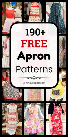 Free Apron Patterns - Apron Patterns to sew. free apron patterns, sewing tutorials, and diy projects. Apron Pattern Free, Vintage Apron Pattern, Sewing Patterns Free, Free Sewing, Pattern Sewing, Retro Apron Patterns, Aprons Vintage, Clothes Patterns, Easy Sewing Projects