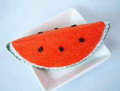 Step by step DIY felt Watermelon slice | fairyfox