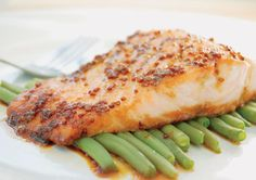 An amazingly simple dish to toss together, heart- healthy Honey Dijon Salmon can be baked or grilled and tastes great served with roasted asparagus or steamed green beans. Quick Recipes, Fish Recipes, Seafood Recipes, Cooking Recipes, Healthy Recipes, Dinner Recipes, Fish Dishes, Main Dishes, Smoked Salmon Recipes
