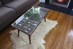 I know where to get a drawer. Legs can come from a flea market table. Glass- cut at home depot.