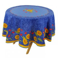 Provence Sunflower Polyester Round Tablecloth By Vero France   70 Vero  France  Http://www.amazon.com/dp/B0067LX30U/refu003dcm_sw_r_pi_dp_8oqQtb1WRDX8TCNM