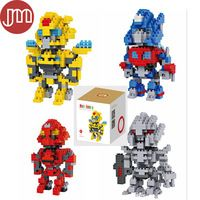 New Blocks Toy Models Building Stinger Optimus Prime Bumblebee Galvatron Kids Birthday Gifts Educational Collection with Box