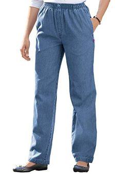 1c92e686e90df8 Women's Plus Size Comfort Jeans With Elastic Waist Skirt Pants, Jeans Pants,  Most Comfortable