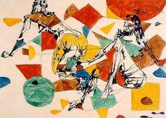 Flávio de Carvalho é o nome artístico de Flavio de Rezende Carvalho (Barra Mansa, 10 de agosto de 1899 — Valinhos, 4 de junho de 1973). http://sergiozeiger.tumblr.com/post/94335173103 Flávio Carvalho foi um dos grandes nomes da geração modernista brasileira, atuando como arquiteto, engenheiro, cenógrafo, teatrólogo, pintor, desenhista, escritor, filósofo, performer, flashmobist, músico e outros rótulos. Duas Mulheres , 1960 Museu de Arte Brasileira - FAAP (São Paulo, SP)