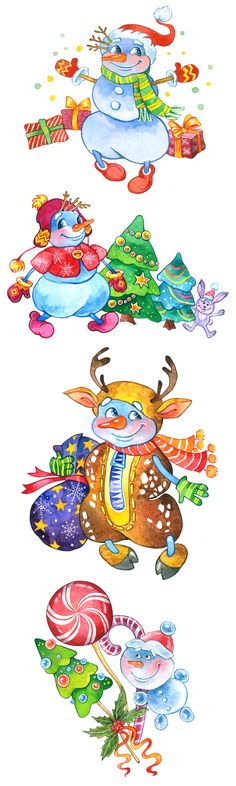 Elf Clipart, Snowman Clipart, Merry Christmas, Clip Art, Watercolor, Trending Outfits, Unique Jewelry, Handmade Gifts, Cute