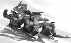 World Of Warcraft Characters, Fantasy Characters, Dnd Characters, Fantasy Races, Fantasy Warrior, Warcraft Orc, Dark Tide, Painting Activities, Art Station