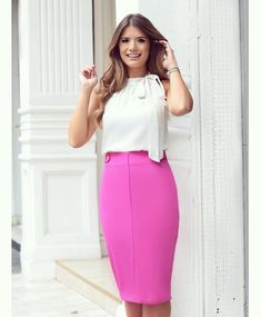 "d83ec1660be Ariane Cânovas on Instagram  "" Pink   White by  seikifashion "". Pantalones RopaBlusas TopFaldas PantalonFrente ÚnicaModa Para MujerModelosVestidos Estilismos"