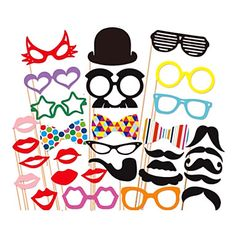 31 шт бумажной карточки Photo Booth реквизит партия весело за (очки&шляпа&усы&шляпа) – RUB p. 554,03