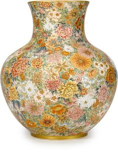 Japanese __A large Satsuma vase by Okamoto Ryozan, Meiji period (late 19th century)