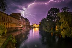 I've Spent 2 Years Photographing Thunderstorms In My Hometown Of Oradea, Romania Art Nouveau Architecture, Thunderstorms, Sunrises, Clouds, Sky, Lighting, Nature, Photography, Beautiful