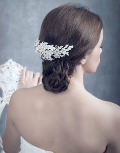 Bridal headpiece/ Tocado de porcelana/ Lena Rom