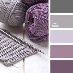 Palette di colori: gradazioni di  color melanzana, grigio ghiaccio e  grigio asfalto.