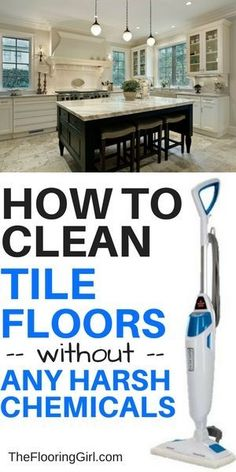 Best steam mop for tile floors - how to clean tile floors without harsh chemicals Deep Cleaning Tips, Cleaning Hacks, Cleaning Products, Green Cleaning, Cleaning Solutions, Diy Hacks, Toilet Cleaning, Cleaning Wipes, Best Steam Mop
