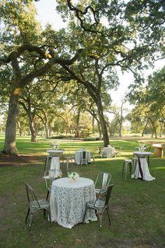Champagne Elliptic Sequin & Mint Tavira on Cocktail Tables amid beautiful trees - ACCP Napa #accp-creative-partners