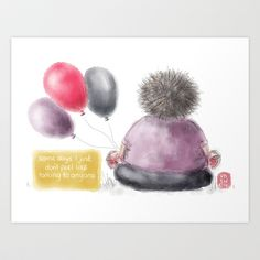 Offline Art Print by Verity - $18.00