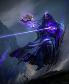 Purple Wizard by Ulysse Dautrême - Your Daily Dose of Amazing beautiful Creativity and Digital Art - Fantasy Characters: Archers Assassins Astronauts Boners Knights Lovers Mythology Nobles Scholars Soldiers Warriors Witches Wizards Character Concept, Character Art, Character Design, Digital Art Fantasy, Fantasy Artwork, Dnd Characters, Fantasy Characters, Fantasy Inspiration, Character Inspiration