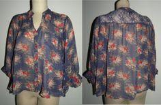 Womens 1990s vintage blouses florals