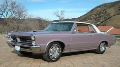 1965 Pontiac GTO 389/335 HP, 4-Speed in Iris Mist......that color!  ♥