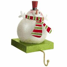 Snowman Stocking Holder: Pier One Imports