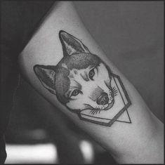 80 Siberian Husky Tattoo Designs For Men - Dog Ink Ideas #husky #siberian #tattoo #tattooideas #siberianhusky