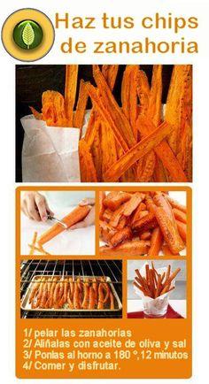Riquísima y saludable alternativa a las patatas fritas. ¿No?