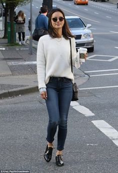 Jamie Chung goes for the preppy look as she heads to set of her new TV pilot | Daily Mail Online