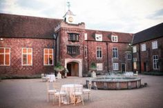 Entrance Courtyard with Water Fountain - The entrance to Fulham Palace is a beautiful red brick Tudor courtyard with a central water fountai...