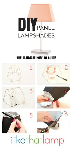 Interested in learning how to make a DIY lampshade using a panel or straight-sided frame as a base? All you need is adhesive styrene, a tacky lampshade glue kit, a panel frame and your favorite fabric!