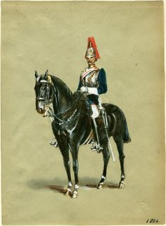 British; Royal Horse Guards, c.1884 by R.Simkin,