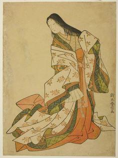 Suzuki Harunobu  Japanese, 1725 (?)-1770 The Poetess Ono no Komachi, c. 1767/68