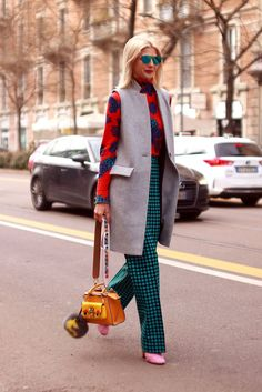 awesome Street Style: Milan  Style is on the streets Check more at http://fashioni.top/pin/12349/