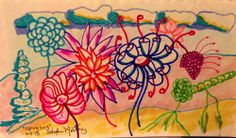 Spring 2013 markers on paper bright original small ART