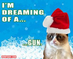 im dreaming of a white christmas, angry cat, dumpaday