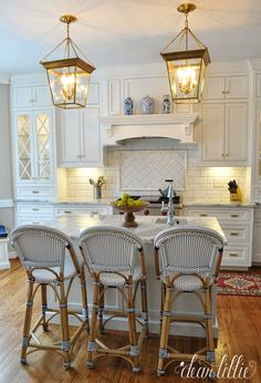 Classic and Timeless White Cottage Kitchen Remodel ! Dear Lillie