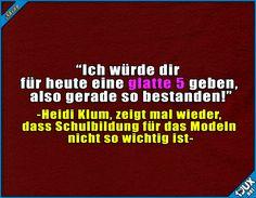 Bestanden mit einer glatten 5? ^^' #GNTM #GNTM2017 #GermanysnextTopmodel #lustig #nurSpaß #Humor #Fernsehen #Topmodel #HeidiKlum #lachen