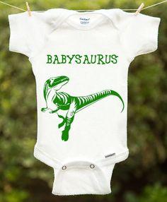 Baby Dinosaur Onesie Baby Dinosaur Shirt by InspirationxCreation, $19.00