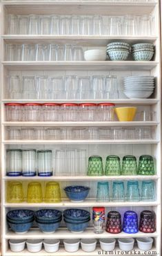 organization.. I try to keep mine like this, but my husband and kids mess it up!