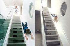 Alex Michaelis' Children's Stairway Slide, Remodelista