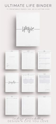 Ultimate Life Binder Lifestyle Planner Life by IndigoPrintables