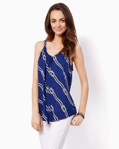 Tied Up Sailor Tank | Fashion Apparel and Clothing – Tops – Nautical Chic | charming charlie