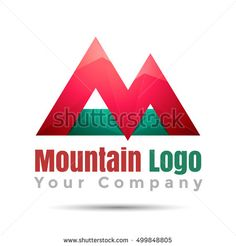 Mountain adventure Volume Logo Colorful. 3d Vector Design. Corporate identity